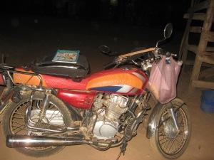 Mit diesem Motorrad durfte ich mitfahren